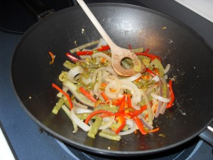 Nopales Cooked With Onions and Peppers
