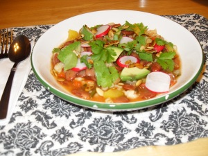 Upgraded Posole with all the Fixins'