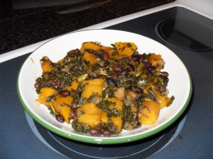 Super Immunity Braised Kale and Squash